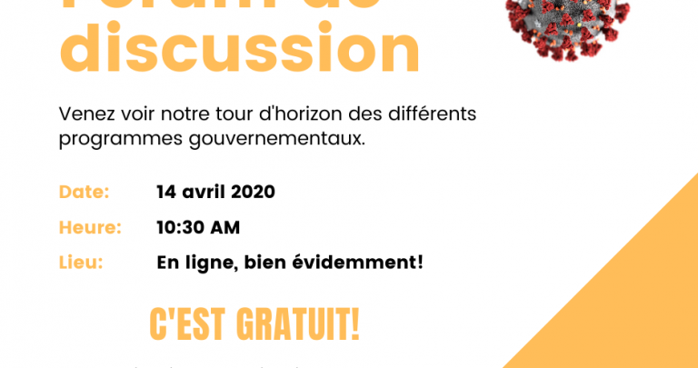 Forum de discussion - 14 avril 2020