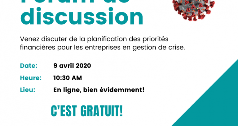 Forum de discussion - 9 avril 2020