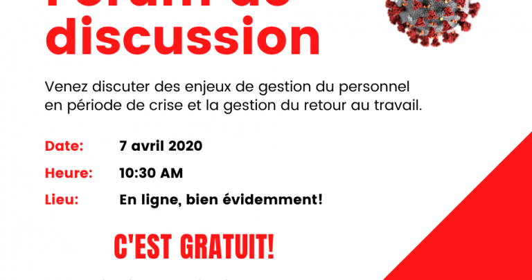 Forum de discussion - 7 avril 2020